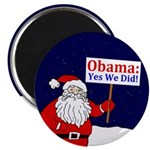Santa for Obama: Yes We Did! Magnet
