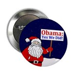 Santa Claus: Yes We Did Button
