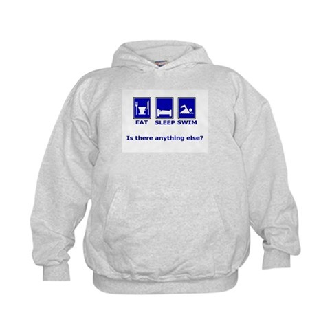 Eat Sleep Swim is there anyth Sports Kids Hoodie by CafePress