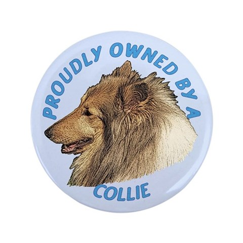 Proudly Owned Collie  Pets 3.5 Button 100 pack by CafePress