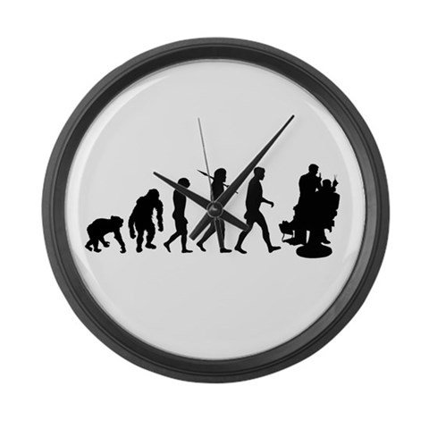 Barber Mens Hairdresser  Funny Large Wall Clock by CafePress