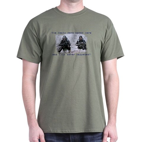 -Seals were never there Military Dark T-Shirt by CafePress