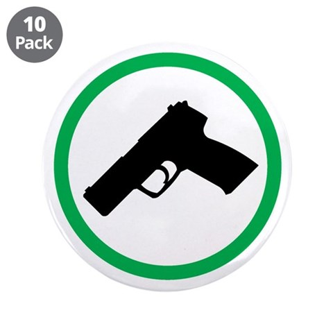 CCW 3.5quot; Button 10 pack Gun 3.5 Button 10 pack by CafePress