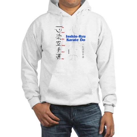 Isshin-Ryu Kanji  American Hooded Sweatshirt by CafePress