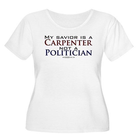 ...Not a Politician Women's Plus Size Scoop Neck T Conservative Women's Plus Size Scoop Neck T-Shirt by CafePress