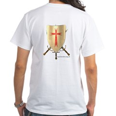 Knight Templar White T-Shirt