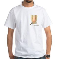 Knight Templar White T-Shirt; click for more info on this Knight Templar White T-Shirt