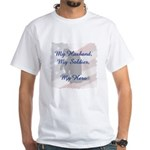 My Husband, My Hero White T-Shirt