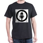 Retro Microphone Black Rubber Stamp Icon T-Shirt