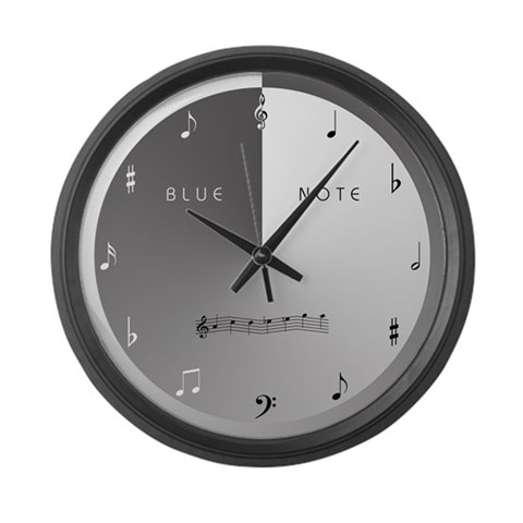 BLUE NOTE  Music Large Wall Clock by CafePress