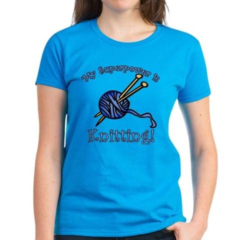 Product Image of My Superpower is Knitting Women's Dark T-Shirt