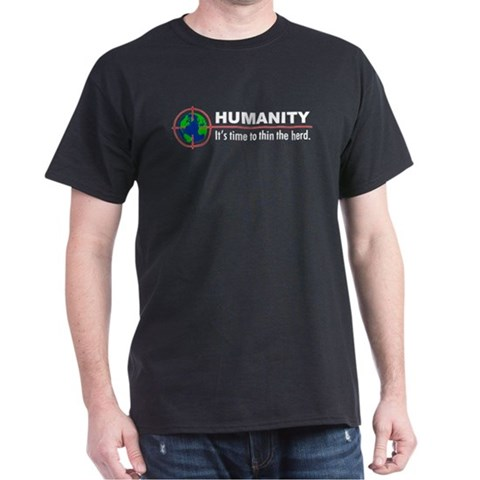 : Humanity Peta Dark T-Shirt by CafePress