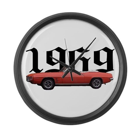 1969 Pontiac Firebird  Hobbies Large Wall Clock by CafePress