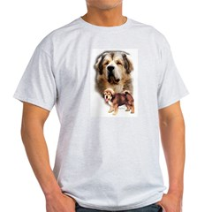 Tibetan Mastiff portrait Ash Grey T-Shirt