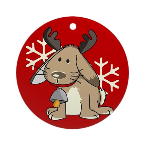 Cute little reindeer Ornament Round Pets Round Ornament by CafePress