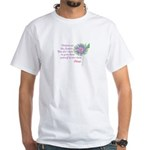 Adoption Flowers White T-Shirt