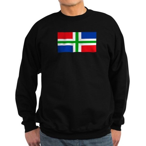 'Groningen Gronings Blank Fla  Dutch Sweatshirt dark by CafePress