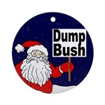 Santa Says Dump Bush Xmas Ornament