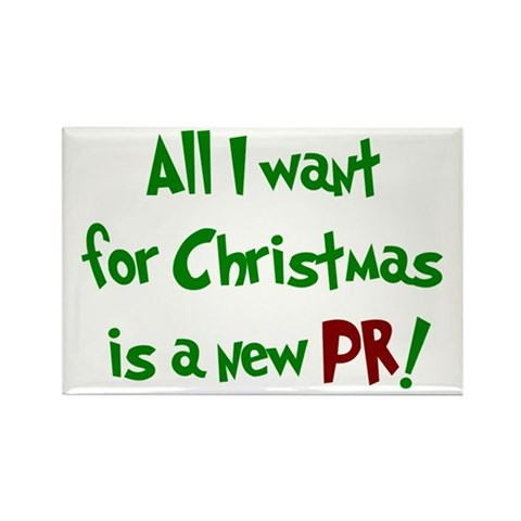 - All I want for Christmas... Sports Rectangle Magnet by CafePress