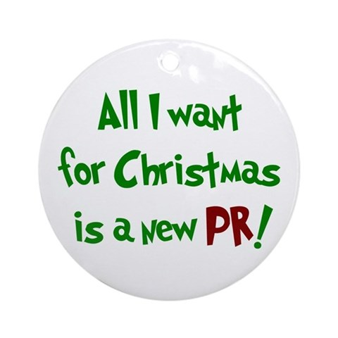 - All I want for Christmas... Sports Round Ornament by CafePress