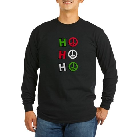 - Christmas Peace quot;h Holiday Long Sleeve Dark T-Shirt by CafePress