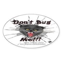 Cattitude Sticker (Oval)
