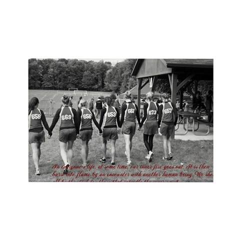 - friendship quote Sports Rectangle Magnet by CafePress