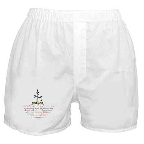 12 Days of Christmas  Family Boxer Shorts by CafePress