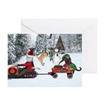 Sandy Claws Holiday Cards (Package of 6) 5 x 7""
