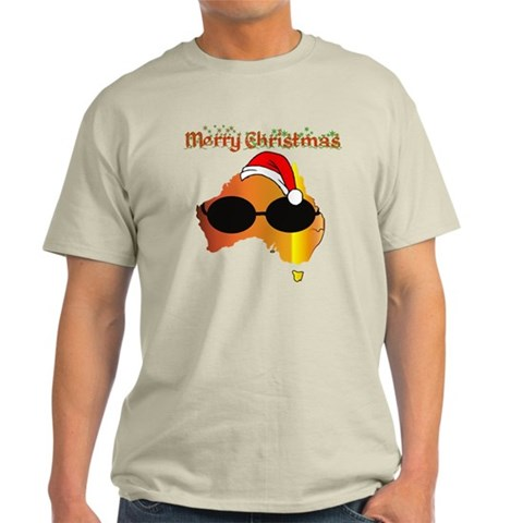 Merry Xmas Australia Cute Light T-Shirt by CafePress