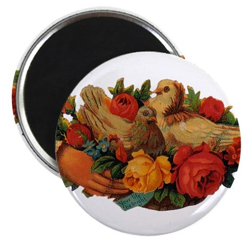 Birds and Flowers  Pets 2.25 Magnet 100 pack by CafePress