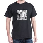 Weekend Forecast Ice Skating Sports D T-Shirt
