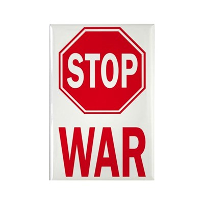 Stop Sign Stop War (fridge magnet)
