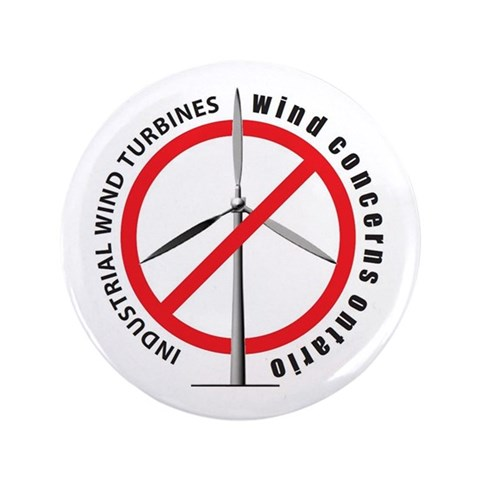 Wind Concerns Ontario 3.5quot; Button 100 pack Politics / government 3.5 Button 100 pack by CafePress