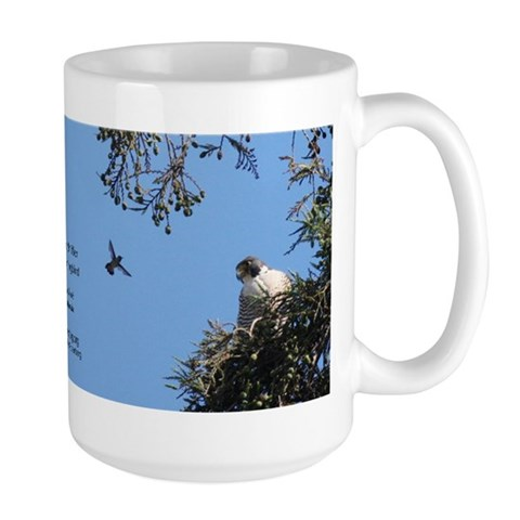 C-207 Clara amp; Her Hummingbird  Art Large Mug by CafePress