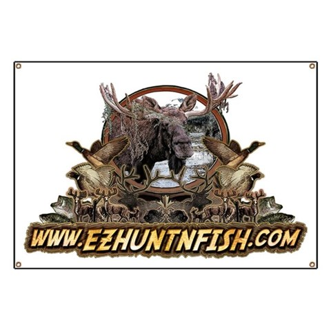 www EZHUNTNFISH com  Sports Banner by CafePress