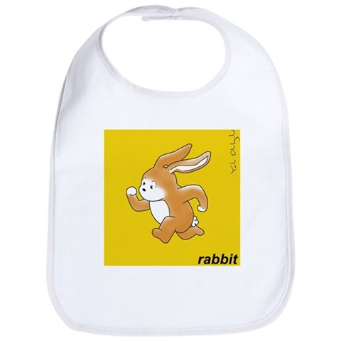 - Brown Rabbit Pets Bib by CafePress