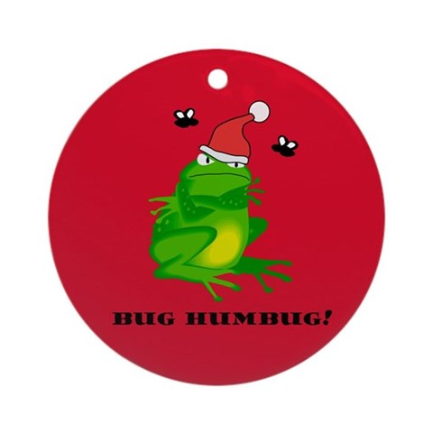 Bug Humbug Frog Ornament Christmas Round Ornament by CafePress