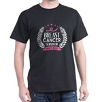 Custom Breast Cancer Survivor Awareness Si T-Shirt