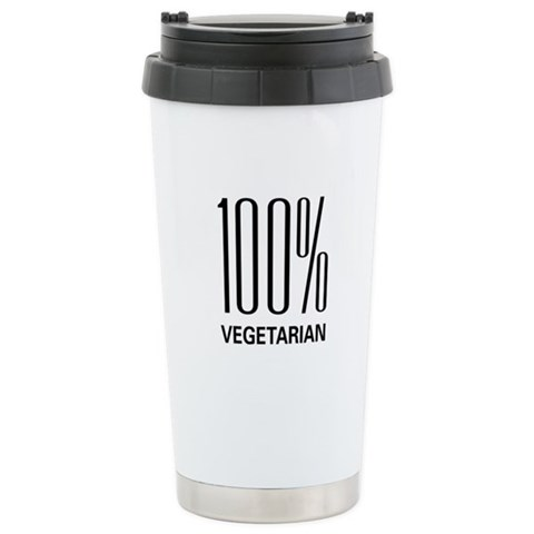 100 Vegetarian  Animals Ceramic Travel Mug by CafePress