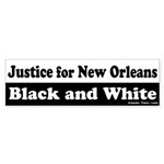 New Orleans Justice Bumper Sticker