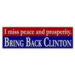 Bring Back Clinton bumper sticker