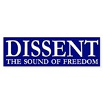 Dissent: The Sound of Freedom (bumper sticker)