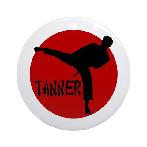-Tanner Karate Ornament Round Sports Round Ornament by CafePress