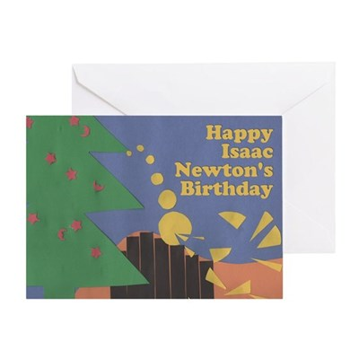 Sir Isaac Newton Birthday Card for 12/25