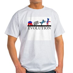 Political Evolution Ash Grey T-Shirt