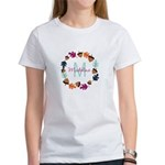 Fun Fall Acorn Wreath Monogram T-Shirt