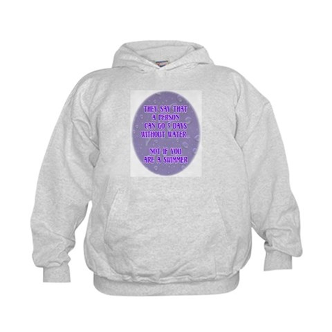 5 Days Without Water  Sports Kids Hoodie by CafePress
