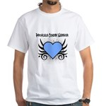 Prostate Cancer Warrior White T-Shirt
