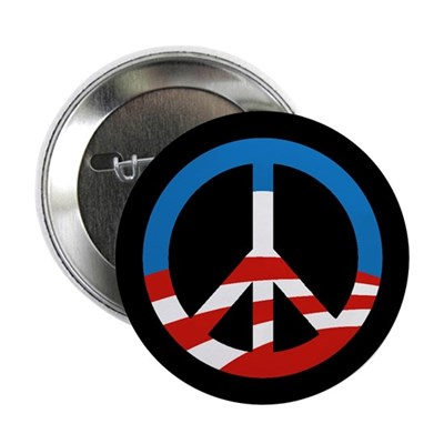 "Obama-Style Peace Sign 2.25"" Button"
